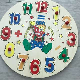 Clock numbers puzzle