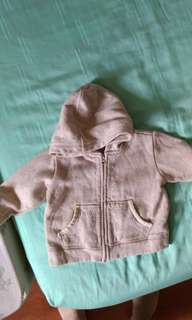 Preloved 12 to 18mth baby Gap hooded sweater