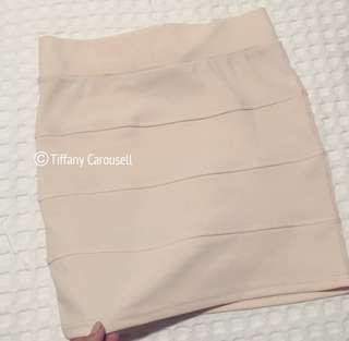 Creamy Beige Bodycon Skirt