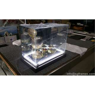 Glass / Acrylic Box for Souvenirs, Medals, Art, etc...