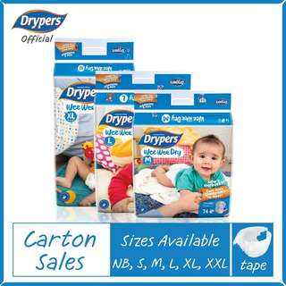 Drypers Drypantz Tapes Diapers S size onwards