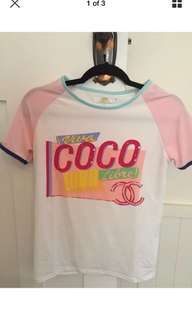 Coco chanel top Tshirt womens designer