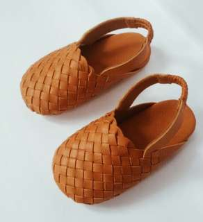 [BABY BOY] Woven Leather Shoes | Loafers Moccasins Slippers | [TODDLER] Leather Sandals Closed Toe