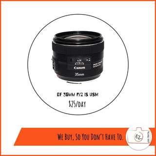 Rental: Canon Prime Lens