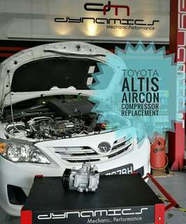 Toyota Altis : AirCon Compressor Replacement