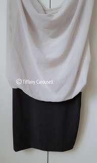Beige Layered Mini Dress