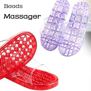Transparent Plastic Massager Slipper
