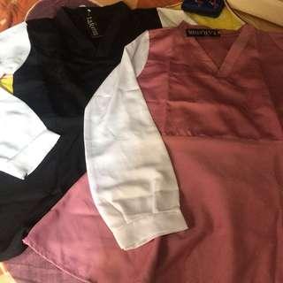 TURUN HARGA Black white blouse