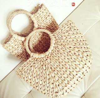 Thick Weave Straw Bags