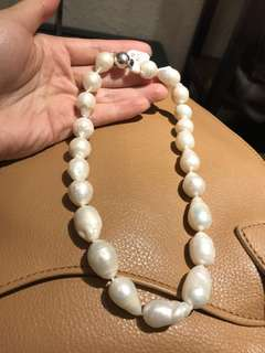 天然珍珠頸鏈