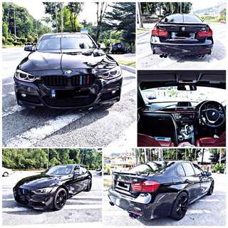 SAMBUNG BAYAR/CONTINUE LOAN  BMW F30 320 M SPORT YEAR 2013 MONTHLY RM 1550 BALANCE 4 YEARS ROADTAX MAY 2018 EXHAUST SYSTEM   DP KLIK wasap.my/60133524312/f30