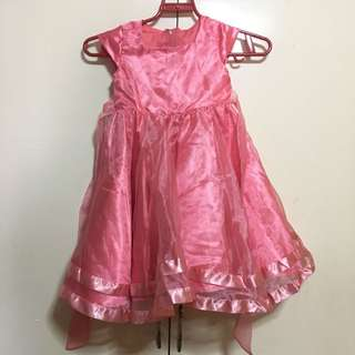 Pink Dress/Gown upto 4yo