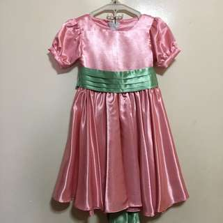 Pink dress/gown upto 5yo