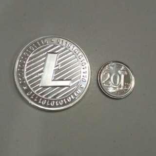 Litecoin Collectible Silver coin