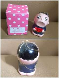 ** 分享 ** Sanrio Minna No Tabo 大口仔 1989 年 半睡眼人形陶瓷食西瓜風鈴 (Made in Japan)