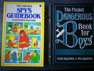 The Usborne Spy's Guidebook & The Dangerous Book for Bous