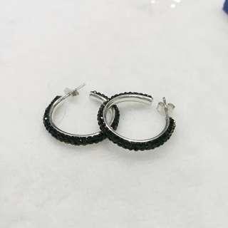 Swarovski loop hoop earrings