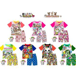 Tokidoki prints tshirt set(stock coming in mid may)