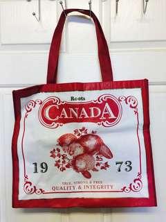 🚚 全新Roots Canada紅色海貍限量款大購物袋提袋(小瑕疵不介意再下標
