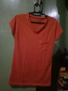 V-neck shirt (orange)