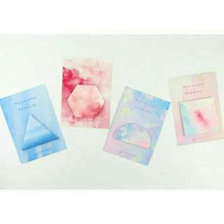 ONHAND: WATERCOLOR STICKY NOTES (SQUARE)