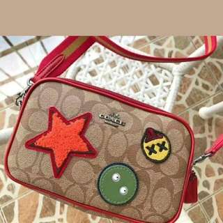 FREE SHIP Coach Sling Crossbody Bag with patches 3