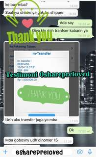 Testimoni Osharepreloved