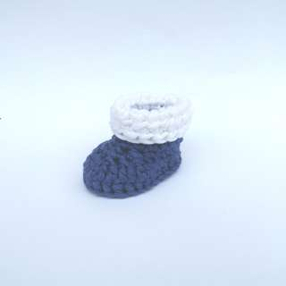 BABY BOOTIES: Cuffed Baby Boots, Rolled Down Baby Boots (Crochet)