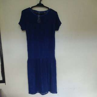 Re-priced Pre-loved ASHLEY Collection Navy Blue Dress