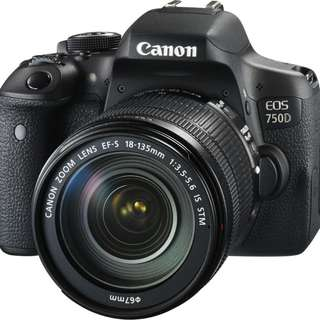 kredit tanpa DP Canon eos 750D kit 18-135mm f3.5-5.6 IS STM WIFI