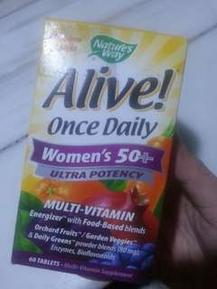 """Buy one Take one Alive """"once daily"""" women's 50+ ultra potency"""