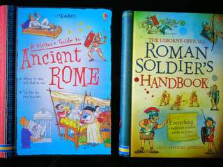 Usborne A Visitors Guide to Ancient Rome and Roman Soldier's handbook