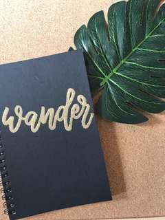 Gold Embossed Popup Black Notebook