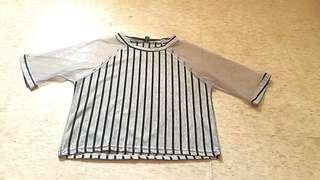 Mesh sleeves crop top