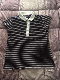 Bench/ striped polo tshirt with pocket