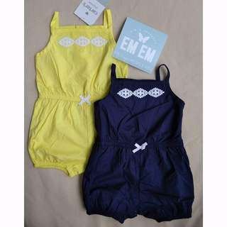 CARTER'S Sleeveless romper sunsuit