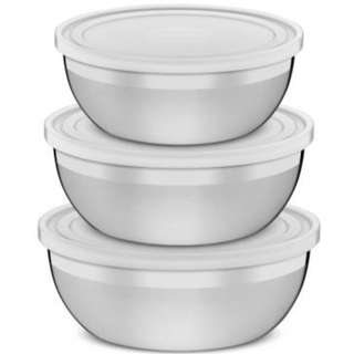 STAINLESS STEEL STORAGE BOWL-3PCS A SET