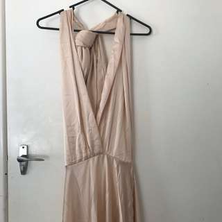Champagne Wrap maxi dress BNWT