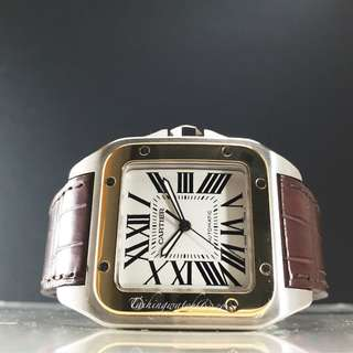 Brand new Cartier santos Hald gold