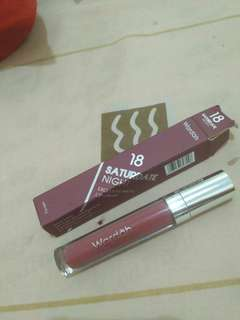 Wardah Exlclussive Matte Lip Cream No 18 Saturdate Night