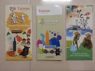 Taiwan Travel Map/Guidebook x 3