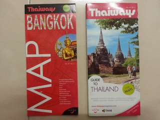 Thailand Travel Map/Guidebook x 2