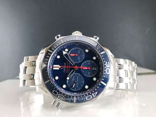 Like new Omega seamaster chrono blue ceramic watch