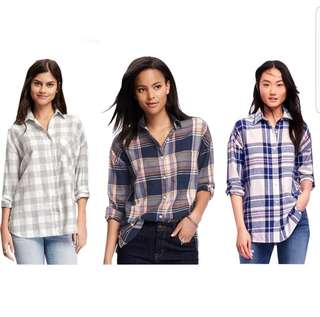 OLD NAVY BEST SELLER PLAID SHIRT