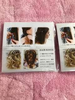 Unique hair rings from Japan