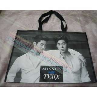 [LAST 1][CRAZY DEAL 90% OFF FROM ORIGINAL PRICE][READY STOCK][VERY RARE]TVXQ DBSK KOREA ENDORSE MISSHA OFFICIAL ECO BAG! NEW! OFFICIAL ORIGINAL FROM KOREA (SELAED) (PRICE NOT INCLUDE POSTAGE)PLEASE READ DETAILS FOR MORE INFO