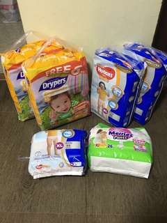 BN Huggies Drypers Merries Diapers Pants Pantz