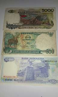 VINTAGE INDONESIAN CURRENCY