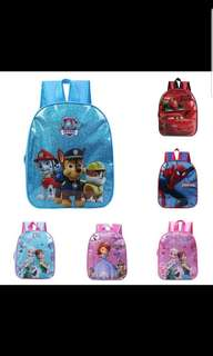 Po- free mail-Kindergarden Kids cartoon Bag robocar paw petrol princess