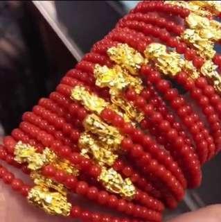 ❤️天然意大利沙丁紅珊瑚手鏈